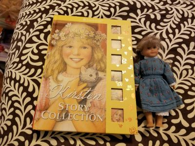 American Girl doll Kristen with books