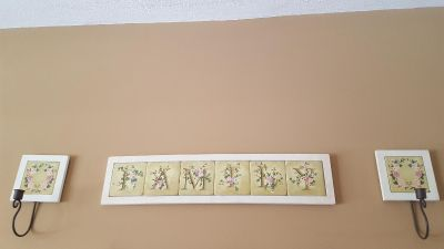 3pc 'Family' tile wall hanging