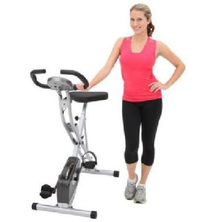 Exerpeutic Upright Folding Magnetic Exercise Bike