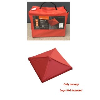Ozark Trail 10' x 10' Gazebo Top for Tailgating or Sports Events, Red **only canopy**