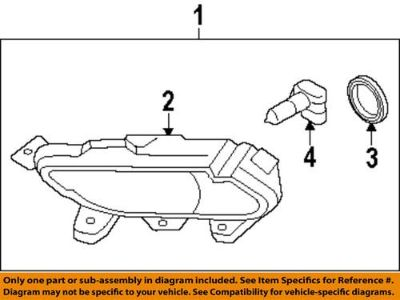 Sell HYUNDAI OEM 922013Q000 Fog Light-Fog Lamp Assembly motorcycle in Downers Grove, Illinois, US, for US $105.48