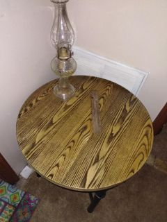 Refurbished round side table