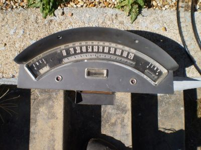 1957 Ford Ranchero FARILANE speedometer 57 RARE HOT ROD RAT ROD WITH EXTRA LENS