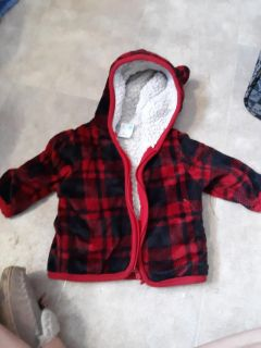 3 to 6 months zip up jacket or sweater