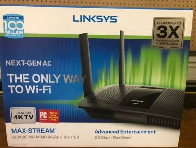 LINKSYS AC 2600 2.6 gbps MAX STREAM MU-MIMO DUAL BAND ROUTER