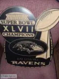 Ravens Superbowl Wooden Plaque