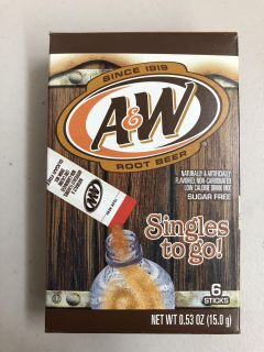USA Food - A&W Root Beer Singles to Go!