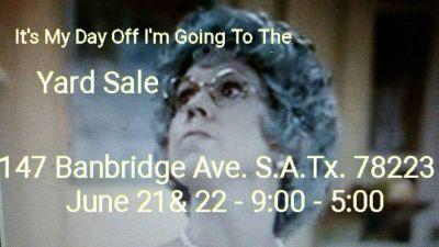 Yard Sale June 21 & 22 Southside