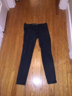 Distressed AE Black Jeans size 10