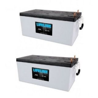 Sell A Pair of LifeLine GPL-8DL AGM Deep Cycle Marine / RV Batteries 255Ah motorcycle in Kansas City, Missouri, United States, for US $1,349.90