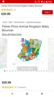 Gently used bouncer seat. $10.00