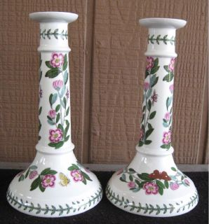 *~~ Portmeirion ~ Botanic Garden ~ Pair of Nine Inch Candlesticks ~~*
