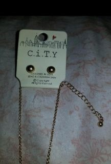 Earrings/Necklace Set by C.I.T.Y