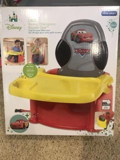 Brand new! Great gift! Disney cars booster seat.