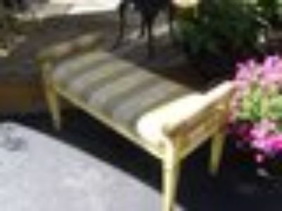 vintage striped bench