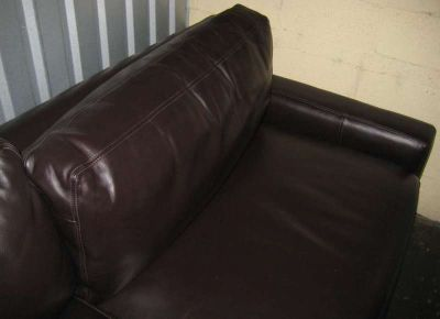 Top Grain Leather Couch, Dark Brown