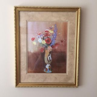 Framed & Matted Picture of Flowers (16x20)