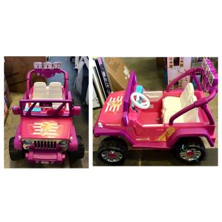 Power Wheels Barbie Deluxe. Jeep Wrangler