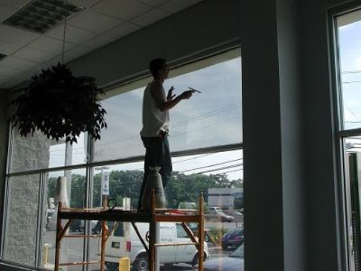 Commercial Window Tinting Service in Palm Beach Gardens Area