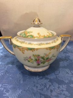 Noritake China Jasmine pattern sugar bowl/lid