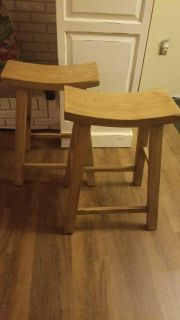 Pair of Counter Height Saddle Stools