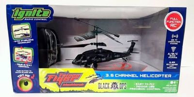 New! Ignite Black Ops Black Hawk Falcon Remote Control Helicopter