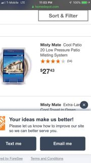 Misty Mate 20 ft Cooling Patio Mister