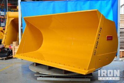 "Emaq 116"" HD Wheel Loader Bucket - Fits Cat 950G/H/K -Unused"