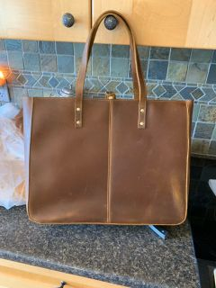 Brand new never used Modern Farmhouse Leather Tote Bag
