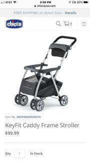 Brand New / In Box Chicco KeyFit Caddy Baby Stroller (Car Seat Carrier)