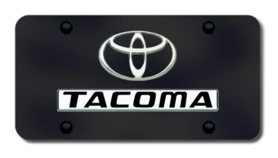 Sell Toyota Dual Tacoma Chrome on Black License Plate Made in USA Genuine motorcycle in San Tan Valley, Arizona, US, for US $40.40