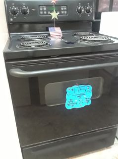 Black Coil Top Stove