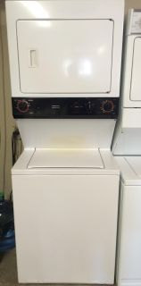 $600, GE 27 Washer  Electric Stackable Unit in White