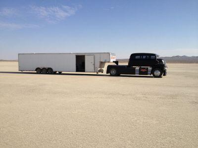 45 gooseneck enclosed race trailer