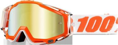 Buy 100% Racecraft Goggles Motorcycle Mandarina 2 Mirror Gold Lens 50110-092-02 motorcycle in Tavares, Florida, United States, for US $68.21