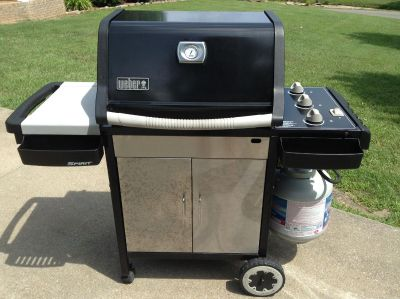 Weber Spirit 3 Burner Gas Grill-With Tank-Cleaned & Ready To Grill-Upgraded Just Don't Need 2 Grills