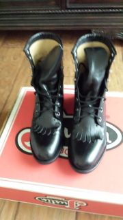 Justin Laceup Boots - Size 7-1/2 B