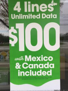 4 LINES FOR $100 A MONTH WITH CRICKET WIRELESS SOUTHFIELD!!!!!
