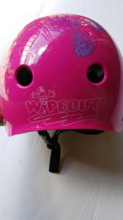 Wipeout dry erase Girls youth bike helmet, can draw on with washable markers, in like new, used only a few times