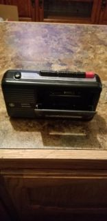 Battery operated cassette recorder/player
