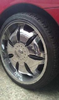 $900 OBO Universal chrome rims and tires