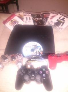 $180, Playstation 3 SUPER Bunddle 9 games 3 controllers 12 Blue Ray.Movies