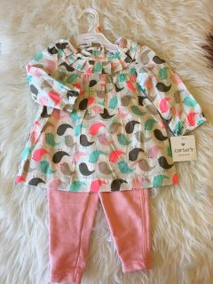 Carter s Outfit | Baby Birds Pattern | NEW