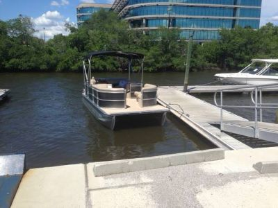 2013 Harris flotebote Pontoon cruiser 220 saltwater edition with a 115