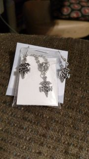 RN Earrings and Neclace Set