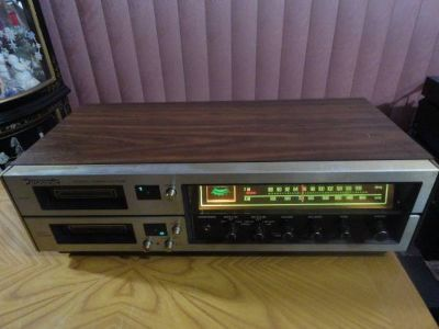 VINTAGE PANASONIC RS-828S DOUBLE 8 TRACK TAPE DECK AM/FM RADIO RECEIVER