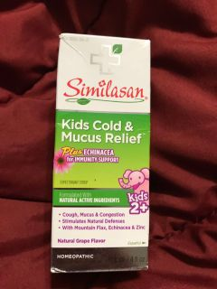 Similason kids cold and mucus relief