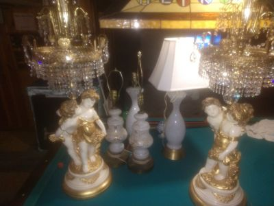 Muranos Tiffany l&l wmc Hollywood regency lights to hobnails and chandeliers