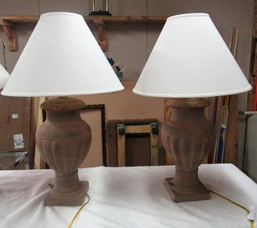 2 Light weigh southwest table lamps