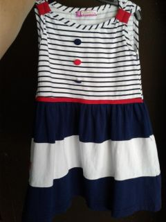4th of July Independence Patriotic USA America Stripes girls dress